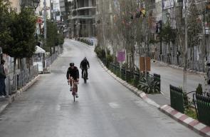 سباق الدراجات الهوائية في مدينة رام الله