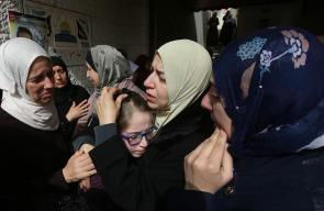 جانب من تشييع جثمان الشهيد خالد التايه