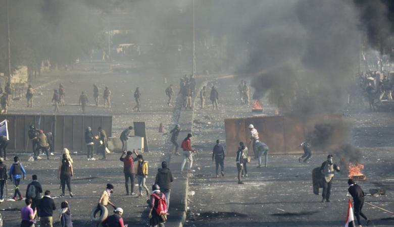 حصيلة الاشتباكات بين المتظاهرين والقوات العراقية خلال اليومين الماضيين
