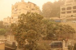 حالة الطقس : اجواء مغبرة  وانخفاض على درجات الحرارة