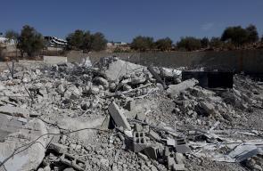 رام الله - الإحتلال يهدم منزل المواطن محمد عوض في نعلين غرب المدينة