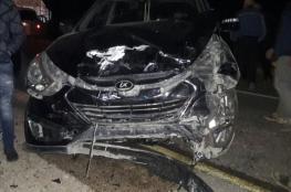 6 اصابات احداها خطرة بحادث سير مروع بجنين