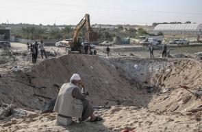آثار تدمير طائرات الاحتلال لمنزل عائلة ابو ملحوس في دير البلح جنوب قطاع غزة