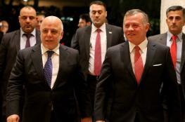 """العاهل الأردني يبحث مع رئيس الوزراء العراقي """"الحرب على الإرهاب"""""""