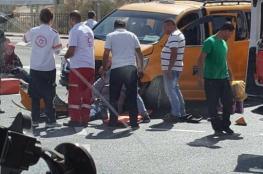 10 إصابات في حادث وقع بين 3 سيارات قرب العيزرية