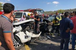 مصرع خمسة مواطنين واصابة أكثر من 150 آخرين في حوادث سير بالضفة الغربية
