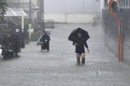 """مع اقتراب اعصار """"هاغيبيس"""" العنيف ..اليابان تجلي مليون شخص"""