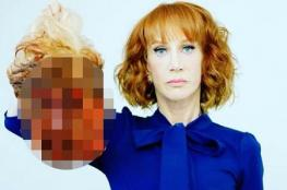 """ترامب يوجه كلمات مؤثرة لممثلة أمريكية تصورت مع دمية على شكل """"رأس ترامب المقطوع"""" فجعلها تعتذر"""