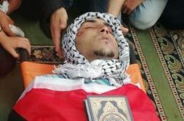 """اهالي نابلس يشيعون جثمان الشهيد """"محمد مرشود """""""