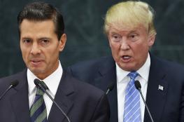 أزمة مشتعلة بين ترامب ونظيره المكسيكي بسبب الجدار الحدودي