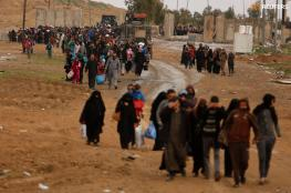 100 ألف نازح من غربي الموصل