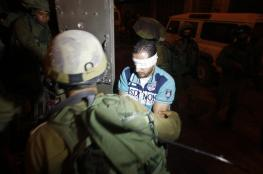 رام الله : قوة اسرائيلية تعتقل شاباً من قرية المغير