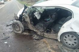 8 إصابات إحداها خطيرة في حادث سير شمال الخليل