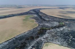 17 حريقا في مستوطنات غلاف غزة بفعل طائرات وراقية