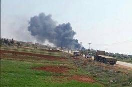 شاهد ..المعارضة السورية تسقط طائرة للنظام في ريف ادلب