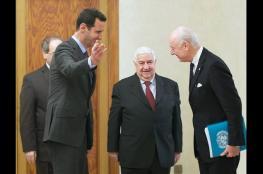 نظام الأسد: على دي مستورا نقل الأفكار فقط