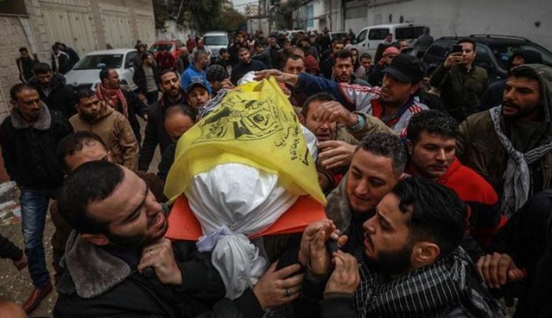 تشييع جثمان الشهيد الحجّار في غزة
