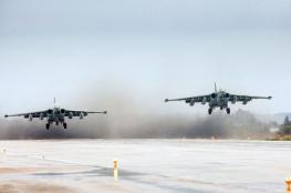 الطيران الحربي الروسي يشن 14 غارة على مواقع في ادلب السورية