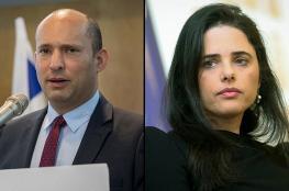 شاكيد وبينيت يقرران خوض الانتخابات الاسرائيلية بشكل منفصل