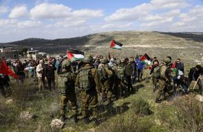 مواجهات بين المواطنين وقوات الاحتلال قرب