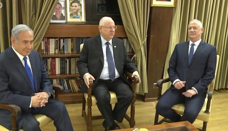 """الرئيس الاسرائيلي لنتنياهو وغانتس : """"لا نريد انتخابات ثالثة """""""