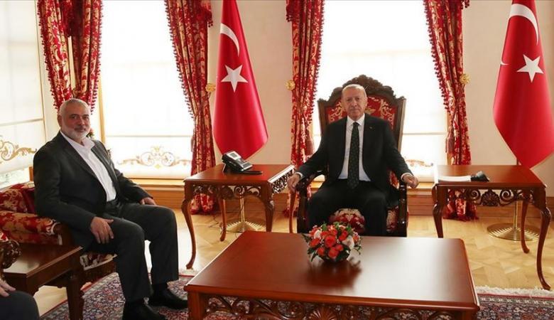 حماس تعلن تفاصيل لقاء إردوغان وهنية في اسطنبول