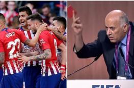الرجوب يبعث برسالة تحذيرية لنادي اتلتيكو مدريد