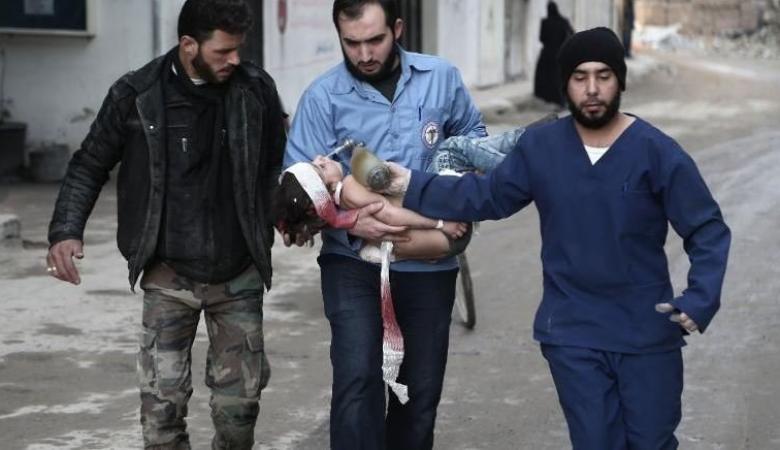 روسيا تحرق وتقتل  المدنيين في الغوطة الشرقية بسوريا وتلجئ لمجلس الأمن