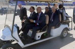الرئيس محمود عباس، خلال افتتاحه عدة منشآت في جامعة الاستقلال بمدينة أريحا