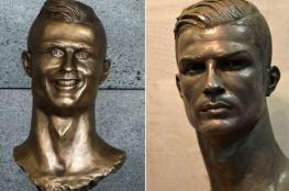 """ريال مدريد يكشف النقاب عن تمثال جديد """"لرونالدو """""""