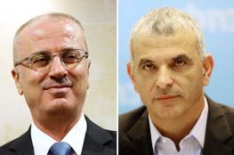 وفد فلسطيني برئاسة الحمد الله يجتمع مع وزير المالية الاسرائيلي