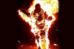 افشال محاولة بائع بسطة حرق نفسه في غزة