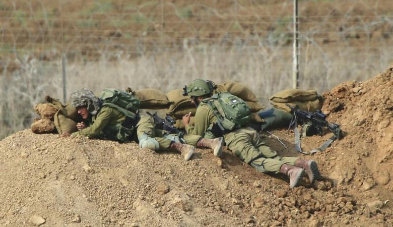 اصابة ضابط  اسرائيلي بجراح على حدود غزة
