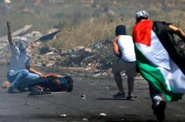 إصابة شابين برصاص الاحتلال واعتقال آخر خلال مواجهات جنوب أريحا