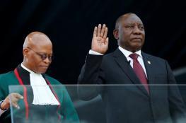 رامافوزا يؤدي اليمين الدستورية رئيسا لجنوب إفريقيا