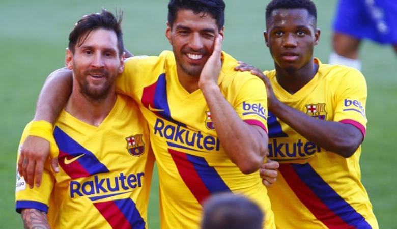 برشلونة ينهي موسمه بفوز كبير وميسي يحقق رقما قياسيا