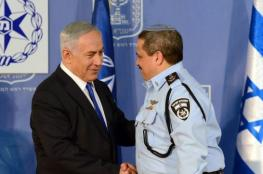 نتنياهو وقائد الشرطة الاسرائيلية يتبادلان الاتهامات