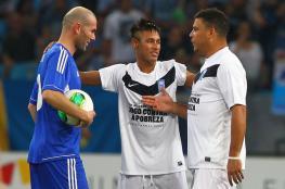 """البرازيلي رونالدو يدعو ريال مدريد الى التعاقد مع """"نيمار """""""