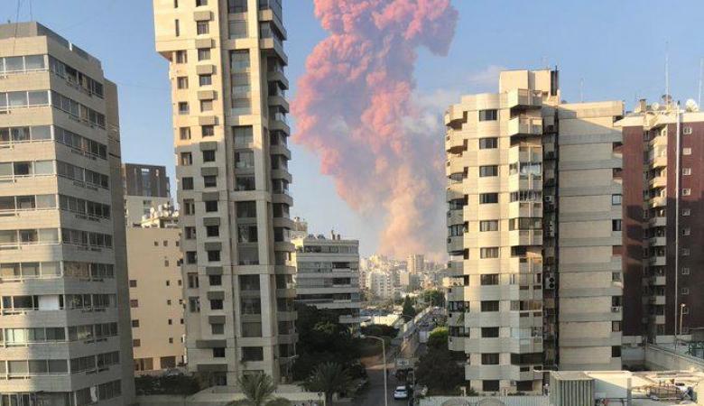 انفجار كبير يهز العاصمة اللبنانية بيروت