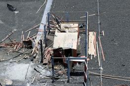 الكشف عن آثار القصف الحوثي على مطار أبها السعودي