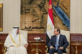 السيسي وبن زايد يتفقان على محاربة وتمويل الارهاب