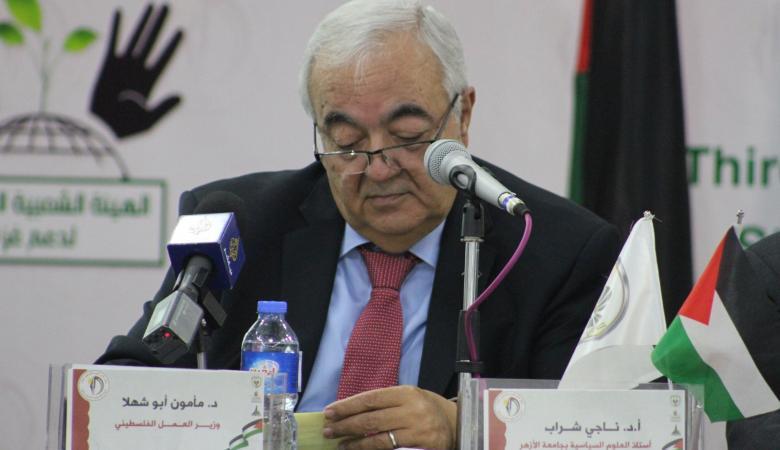 ابو شهلا يكشف نسبة البطالة في صفوف الفلسطينيين