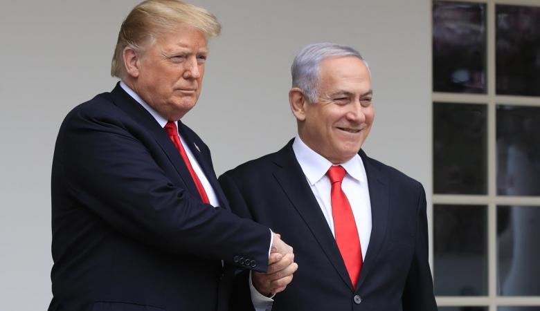 """ادارة ترامب تعلق على نية """"نتنياهو """"ضم اجزاء من الضفة الغربية"""