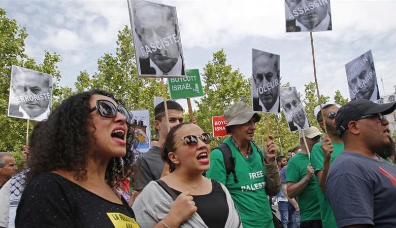 تظاهرة غاضبة ضد زيارة نتنياهو لفرنسا
