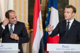ماكرون : لا تعطوا الرئيس المصري دروساً في حقوق الانسان
