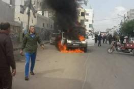 مقتل مواطن برصاص داخلية غزة وعائلته تضرم النار في سيارات الشرطة