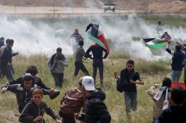 8 اصابات بينها حرجة في قمع الاحتلال لمسيرات العودة