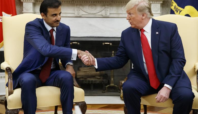 امير قطر يوقع اتفاقيات مع واشنطن بمليارات الدولارات