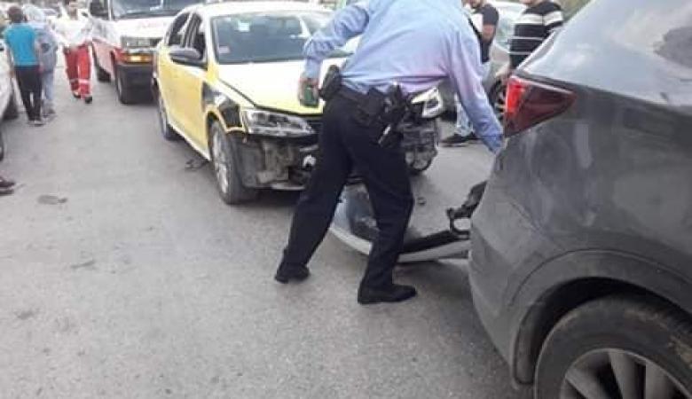 7 إصابات بينها طفلان بحادث سير غرب نابلس
