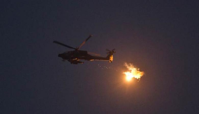"""المقاومة حاولت اسقاط طائرة """"اباتشي """" في سماء غزة"""